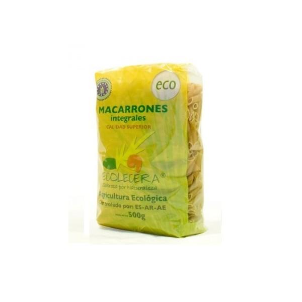 Ecolécera: macarrones integrales, paquete de 500 g