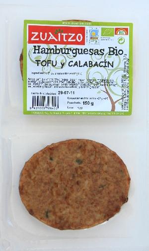 Zuaitzo: Hamburguesas de tofu y calabacín 150 g