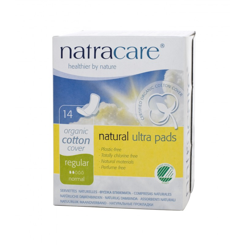 Natracare: Compresa regular con alas 14 unidades