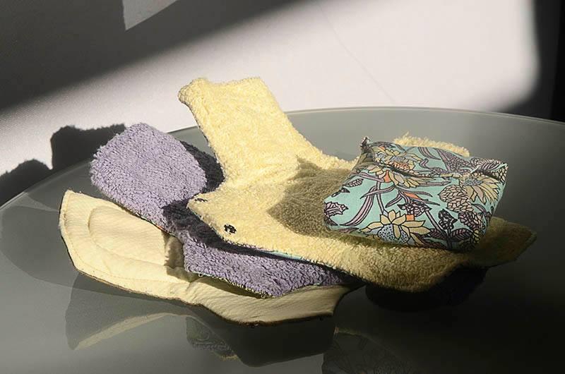 Piel de Luna: Compresa artesana de algodón reutilizable (talla L, con toalla a la vista)