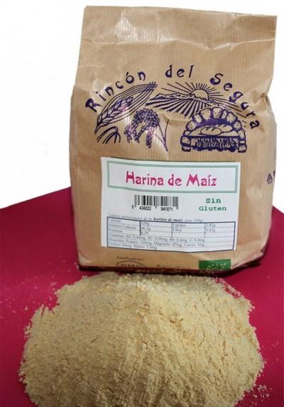 Rincón del Segura: harina integral de maíz (sin gluten) 0,8 kg