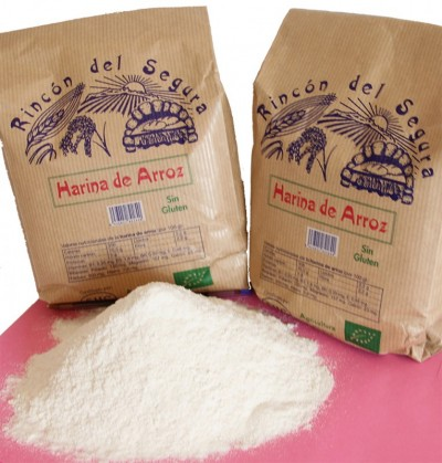 Rincón del segura: harina integral de arroz (sin gluten) 1 kg