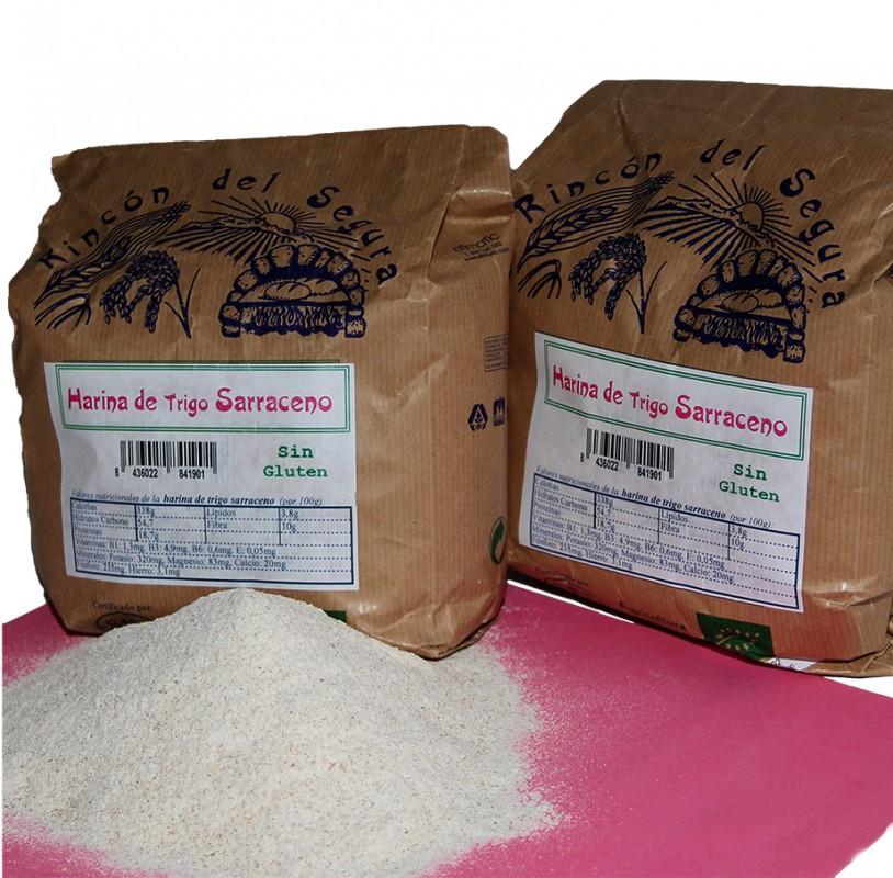 Rincón del Segura: harina de trigo sarraceno 1 kg (sin gluten)