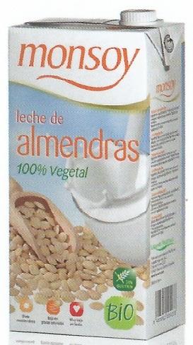 Monsoy: Leche de ALMENDRA Caja 4 ud