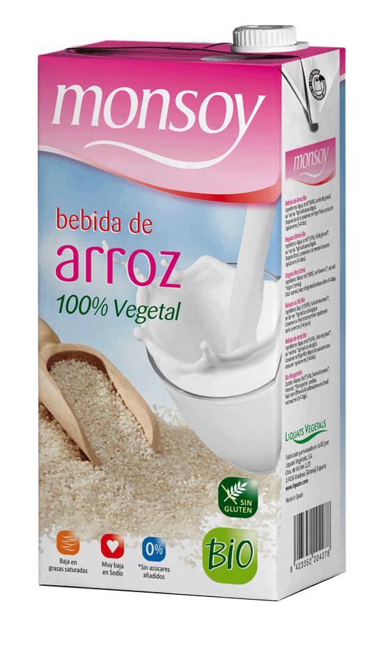 Monsoy: Bebida de ARROZ Caja 4 ud