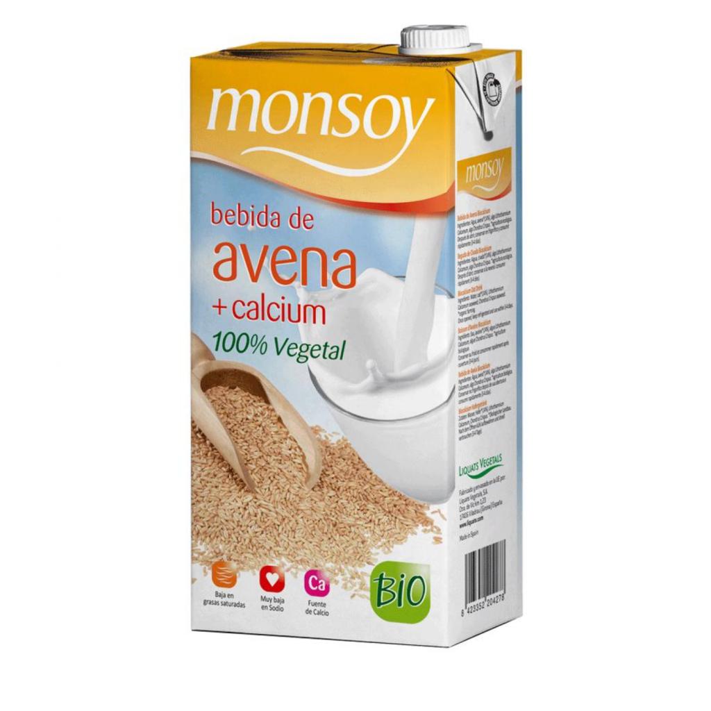 Monsoy: Bebida de AVENA CALCIO Caja 4 ud