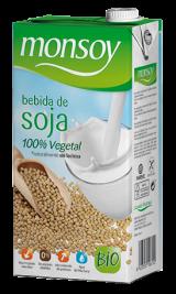 Monsoy: Bebida de SOJA Caja 4 ud