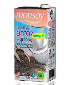 Monsoy: Bebida de ARROZ INTEGRAL con QUINOA Caja 4 ud